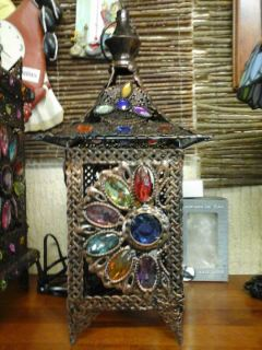 Farol sobremesa estilo árabe 35 cm.