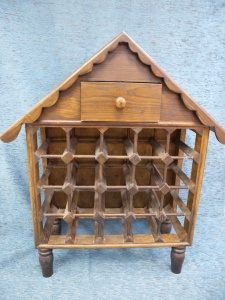 Botellero madera  casita