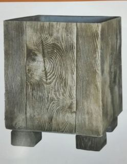 Maceta cuadrada madera