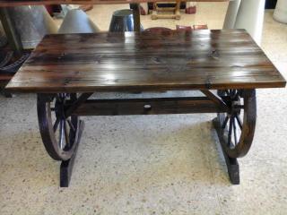 Mesa rústica madera 110 cm.