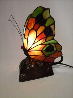 Lampara mariposa estilo tiffany naranja